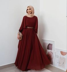 Prom Dresses Long With Sleeves, Modest Dresses, Casual Dresses, Fashion Dresses, Dress Outfits, Long Dresses, Hijab Outfit, Modesty Fashion, Hijab Evening Dress