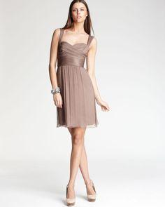 Bridesmaid dress for Kristen's wedding (except it's floor length...).  Truffle prettiness.
