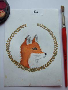 Akwarelowy lis/ watercolor fox