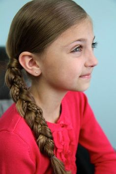"Simple Braid With Microbraid Accents: ""This hairstyle uses a simple side braid, only I included two microbraids in two of the strands,"" Mindy says. Note: check out Mindy's tutorial to ensure the microbraid isn't hidden.   Source: Cute Girl Hairstyles"