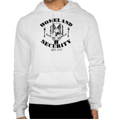 Men's Homeland Security Full Front American Apparel California Fleece Pullover Hoodie.  #usconstitution #gunrights #defense #2ndamendment #conservatism #teaparty