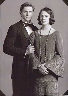 Tom and Sybil Branson.  awwwwww!!! p.s I don't care if this isn't a movie.it's cute and close enough