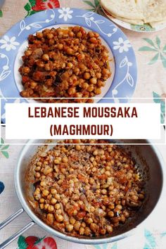 A delicious Lebanese Moussaka which is a vegan dish made with eggplants and chickpeas. It is best serve with flatbread or rice. Quick Dinner Recipes, Lunch Recipes, Fall Recipes, Picnic Recipes, Vegan Dishes, Food Dishes, Side Dishes, Best Vegetarian Recipes, Healthy Sandwiches