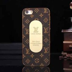 * Louis Vuitton monogram cell phone case iphone 5 / 5s * gold tone oval plate is on this Case with LV signature on * protects your phone from from scratch, dusts and damage * offers easy access to all buttons and ports without having to remove the case * Available for iPhone 5 and iPhone 5s