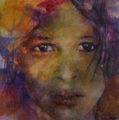 """""""La tua innocenza"""", 2007 by Ademaro Bardelli - Acrylic on wood"""