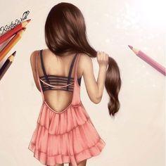 Hair drawing beautiful Kristina webb