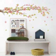 E esse adesivo de parede para o quarto infantil? Ótima ideia!