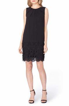 f9c7f3ebf4196e Tahari Lace Shift Dress (Regular   Petite) Scalloped Hem
