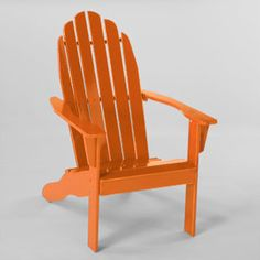 These are from World Market and would look great in my backyard!  Burnt Orange Classic Adirondack Chair   SKU #454129  $99.99