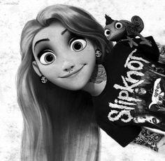 Rapunzel is a Slipknot fan.
