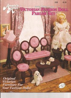 Plastic Canvas - Fashion Doll Victorian Palor Set  - Pattern Book - PDF form