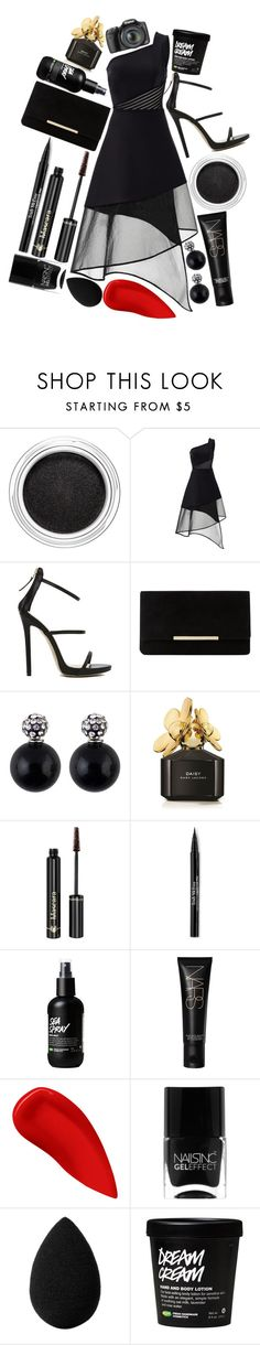 """""""unhealthy relations with being awake"""" by dreaming-wonderland ❤ liked on Polyvore featuring Clarins, David Koma, Akira, Dune, Marc Jacobs, Dr.Hauschka, Trish McEvoy, NARS Cosmetics, Lipstick Queen and Nails Inc."""