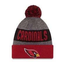 c19ee9aa268dc Arizona Cardinals New Era Heather Gray 2016 Sideline Official Sport Knit Hat