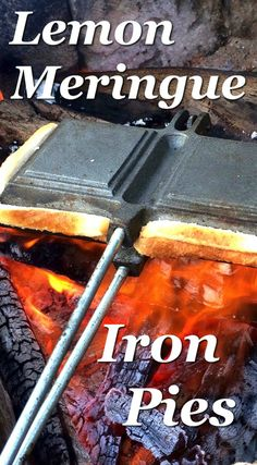 Just in time for camping season - Pie Iron Recipes that are a little bit fancy, yet super easy to make. Amazing Pie Iron Recipes - Lemon Meringue and Chocolate Caramel Iron Pies Camping Meals, Tent Camping, Camping Hacks, Camping Recipes, Backpacking Meals, Camping Cooking, Camping Stuff, Camping Guide, Diy Camping