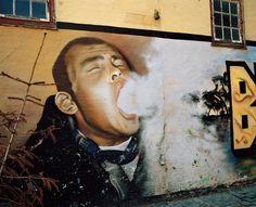 Mural, Christiania | Maja Daniels Urban Street Art, Urban Art, Christiania Copenhagen, Street Painting, Chalk Drawings, Photo Story, Danish Design, Graffiti, Art Pieces