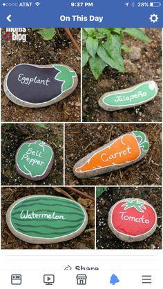 Stone/rock garden markers
