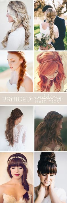 """Awesome wedding hair tips for wearing """"braids""""!"""