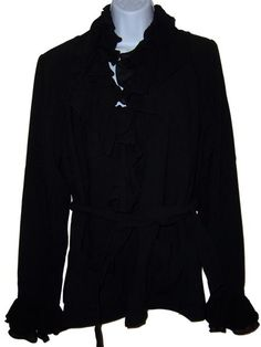 Marc Bouwer Crepe Jacket Two Sets Collar and Cuffs Medium