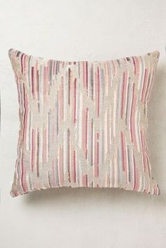 Pink Velvet Chevron Cushion