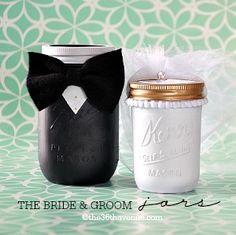 Bride & groom jars