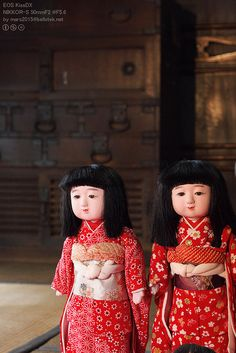 Japanese Dolls- I have one similar that sits on a pretty red pillow!