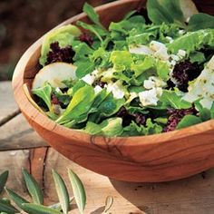 Mixed Lettuce, Pear, and Goat Cheese Salad with Citrus Dressing - A Harvest Dinner of Local Sonoma Valley Food at Lynmar Estate - Cooking Light Salad Dressing Recipes, Salad Recipes, Dried Plums, Poppy Seed Dressing, Pear Salad, Goat Cheese Salad, Recipe Details, Cooking Light, Lettuce