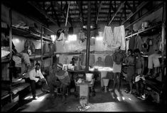Abbas 1978 S Africa. Carltonville.  Black miners from a gold mine in their living quarters