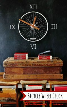 Learn How to Make a Clock from a Bicycle Wheel! www.thistlewoodfa....