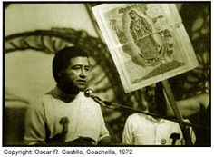 Cesar Chavez, a Mexican-American labor leader who used non-violent methods to fight for the rights of migrant farm workers in the southwestern United States, passed away 20 years ago today in San Luis, Arizona at age 66. (Photo by Oscar R. Castillo, Coachella 1972)