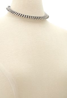 Etched Bib Necklace | Forever 21 - 1049258517