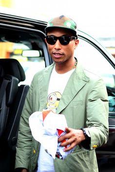 "Pharrell Rocks ""Despicable Me"" Shirt"