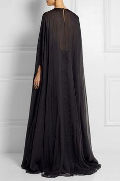 Valentino   Draped silk-chiffon gown   NET-A-PORTER.COM