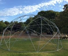 With a geometry that creates a pattern of stars and pentagons, a minimal number of members and simple joint construction, the Stardome represents a fast, elegant and simple approach to geodesic dome construction. This Instructable provides an overview of building a large backyard sized dome that is 8m (25') in diameter and 4m (12½') high. The Stardome is fast to build, taking only 2½ from start to finish for an 8m diameter PVC dome.IntroductionAs a young engineer...