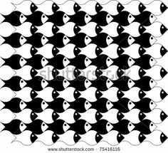 vector fish abstract pattern background by NREY, via Shutterstock