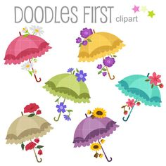 This clipart set includes the 6 x Floral Umbrellas  Each clipart illustration is included separately as a high resolution PNG file with a transparent background and also as a JPG with a white background and as an SVG file.  Each object is provided at a sizes of 5.5 Inches on its longest side. The PNG makes it versatile to scale for any project.  No watermarks will appear on purchased items.  The purchased clip art that will be provided is much higher quality that what you see in preview…