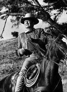 The Duke: John Wayne. Some of my favorite memories are watching his movies with my dad.