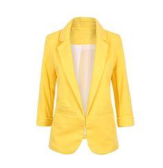 12 primavera mulheres cor doce fino Blazer com três quartos jaqueta de  manga terno Blaser Feminino d9d4e1e394d00