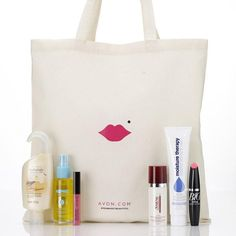 Online Exclusive!FREE with your order of $50 or more after applied discount!  Score thistake anywhere Avon.com exclusive tote filled with 6 full-sized top selling Avon products! Hurry, limited quantities available! Use code CYBER30FS at checkout.  Collection includes:Avon.com Exclusive Tote A $15.00 value. Ultra Glazewear Lip Gloss in Darling Pink A $6.00 value. Naturals Silky Vanilla Shower GelA $4.00 value. Moisture Therapy Intensive Healing ...