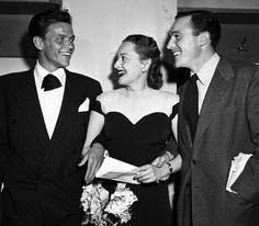 Frank Sinatra, Olivia de Havilland, and Gene Kelly.Olivia De Havilland birthday countdown #27 days to go!