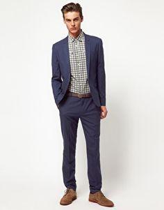 ASOS - Suit - Bleu