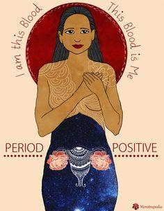 Menstruation Hygiene Day: How Art Is Bashing Period Stigma First Moon Party, Mandala Lunar, Period Party, Moon Time, Sacred Feminine, Feminine Energy, Feminist Art, Illustrations, Positivity
