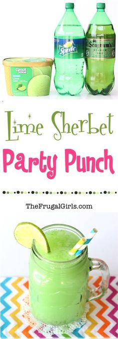 Lime Sherbet Party Punch Recipe from TheFrugalGirls.com