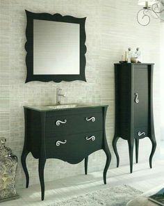 Muebles baño vintage color negro