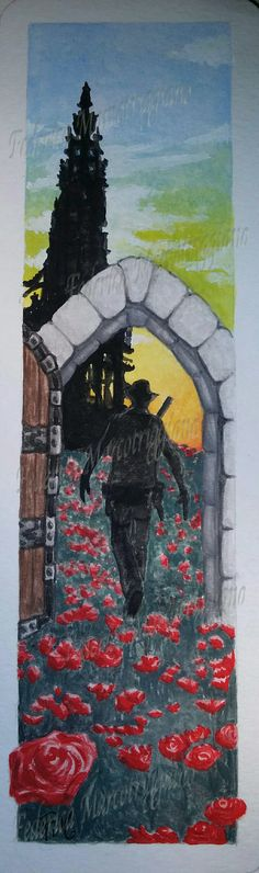 "Stephen King's ""The Dark Tower"" bookmark by Federica Marcotriggiano.  #stephenking #thedarktower #gunslinger #bookmark"