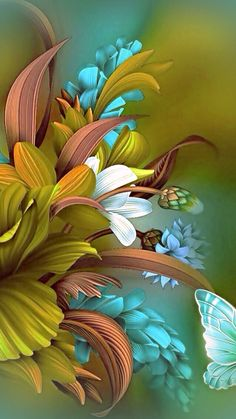 ideas flowers painting acrylic wallpaper for 2020 Flower Phone Wallpaper, Butterfly Wallpaper, Colorful Wallpaper, Wallpaper Backgrounds, Trendy Wallpaper, Wallpaper Ideas, Beautiful Flowers Wallpapers, Beautiful Nature Wallpaper, Beautiful Paintings Of Flowers
