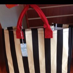 Black, natural & red tote available at I'm Just Sayin... At Broadway & Waterloo in Edmond OK