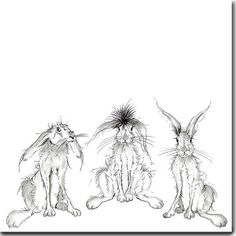 Hares Looking At You Greeeting Card Hare Card Animal Card Animal Sketches, Animal Drawings, Art Sketches, Art Drawings, Pen And Watercolor, Watercolor Paintings, Clown Paintings, Hare Pictures, Hare Illustration