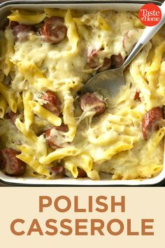 Polish Casserole – Famous Last Words Easy Polish Recipes, Polish Sausage Recipes, New Recipes, Dinner Recipes, Cooking Recipes, Favorite Recipes, Cheesy Recipes, Cooking Tips, Recipies
