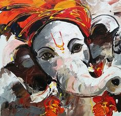 Lord Ganesha Paintings for Sale, Ganesha Art Paintings on Canvas Spiritual Paintings, Lord Ganesha Paintings, Ganesha Drawing, Ganesha Art, Abstract Canvas Art, Acrylic Painting Canvas, Indian Art Paintings, Oil Paintings, India Painting