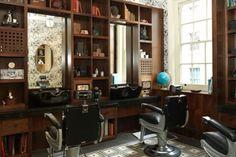 Alfred Dunhill's Barber & Spa Some Of The Best Hairdressers London Barber Shop Interior, Barber Shop Decor, Mobile Barber, Barber Shop Quartet, Antique Armchairs, Office Waiting Rooms, Georgian Mansion, Best Hairdresser, Rustic Furniture